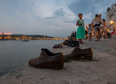 Shoes on the Danube Bank, Budapest, Hungary (12mm, f4, 1/60s, ISO 4000, PPL3-Altered)