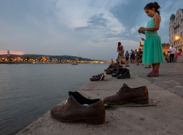 Shoes on the Danube Bank, Budapest, Hungary (12mm, f4, 1/60s, ISO 5000, PPL3-Altered)