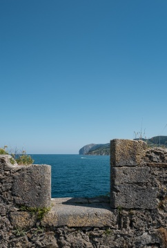 Outer wall of Hermitage of Saint Catherine, Mundaka, Spain (PPL1-Corrected)