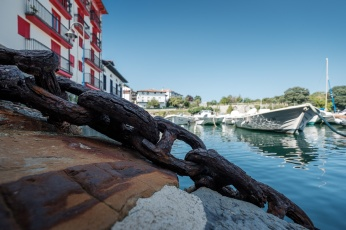 Rusty anchor chain at Mundaka port, Mundaka, Spain (PPL1-Corrected)