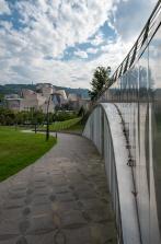 Gabriel walking towards Guggenheim Museum, Bilbao, Spain (PPL3-Altered)