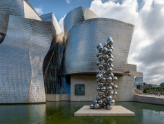 """Tall Tree and the Eye"" by Anish Kapoor, Guggenheim Museum, Bilbao, Spain (PPL3-Altered)"