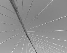 Detail of the Zubizuri footbridge, by Santiago Calatrava, Bilbao, Spain (PPL2-Enhanced)
