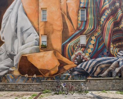 """Mural """"Al hilo del Tiempo"""", Vitoria-Gasteiz,Basque Country, Spain (PPL1-Corrected)"""