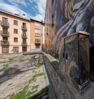 "Mural ""Al hilo del Tiempo"", Vitoria-Gasteiz,Basque Country, Spain (PPL1-Corrected)"
