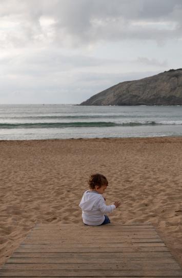 Gabriel at Gorliz Beach, Basque Country, Spain (PPL3-Altered)
