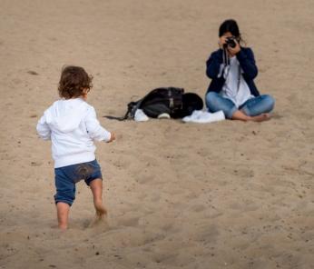 Jules and Gabriel at Gorliz Beach, Basque Country, Spain (PPL1-Corrected)