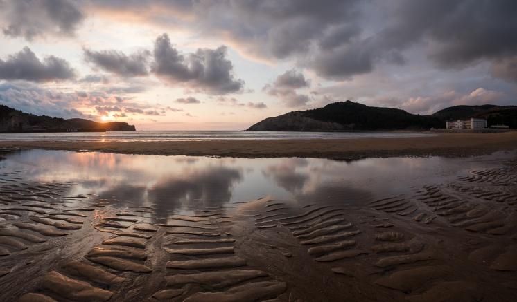 Sunset at Gorliz Beach, Basque Country, Spain (PPL3-Altered)