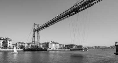 Vizcaya Bridge, Portugalete, Basque Country, Spain (PPL3-Altered)