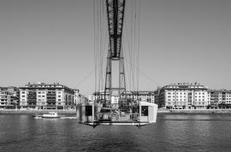 Vizcaya Bridge, Portugalete, Basque Country, Spain (PPL2-Enhanced)