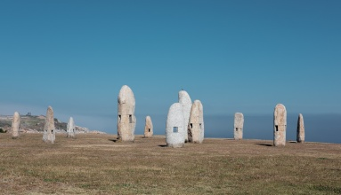 Menhirs for Peace, A Coruña, Galicia, Spain (PPL3-Altered)