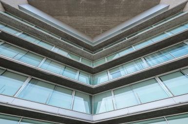 Building detail, Vigo branch of the Xunta de Galicia, Spain (PPL1-Corrected)
