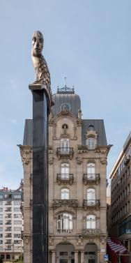 'El Sireno' sculpture, Porta do Sol, Vigo, Galicia (PPL1-Corrected)