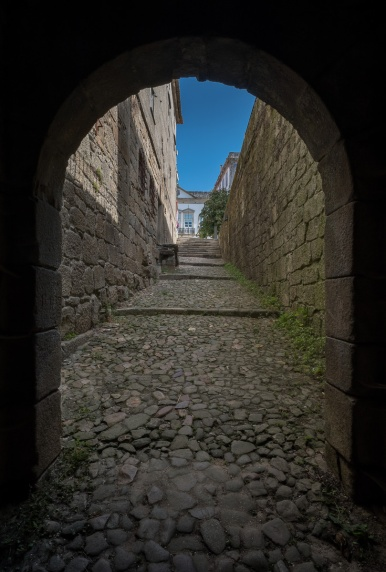 One of the undergorund entrances to the Valença Fortress, Minho, Portugal (PPL3-Altered)